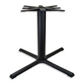 2000 Series Signature Line Style X Table Base 40'' x 40'' Table Height in Black Matte, Base Spread: 40'' W x 40'' D, Spider Spread: 24'' Diameter, Height: 27-15/16'' H, Available in Multiple Sizes