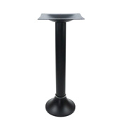 3009 Series 9-1/2'' Diameter Bolt Down Base with Bell Cover and 11'' W x 11'' D Square Top Plate, Welded Top and Bottom, Table Height 28-3/4'' H, Smooth Black Matte, Mounting Hardware Included