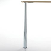 Prisma Table Height Legs, Set of 4, 2-3/8'' Dia., 27-3/4''H, Polished Chrome