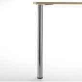 Prisma Counter Height Legs, Set of 4, 2-3/8'' Dia., 34-1/4''H, Brushed Steel