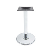 3000-CHS Series Round Table Base Stamped Steel, Base Spread 18'' Diameter, Dining Height 28-1/4'' H, Smooth Chrome
