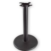 3000 Series Signature Line Flat Style Table Base 18'' Round Table Height in Black Matte, Base Spread: 18'' Diameter, Spider Spread: 9'' Diameter, Height: 28-1/8'' H, Available in Multiple Sizes