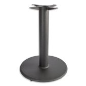 3000 Series Signature Line Flat Style Table Base 22'' Round Table Height in Black Matte, 4'' Column, Base Spread: 22'' Diameter, Available in Multiple Sizes