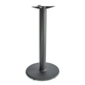 3000 Series Signature Line Flat Style Table Base 22'' Round Bar Height in Black Matte, 4'' Column, Base Spread: 22'' Diameter, Available in Multiple Sizes