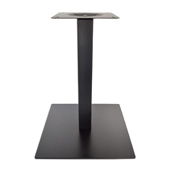 5000BKZ Series Positano Line 17'' W x 17'' D Square Table Base with 12'' W x 12'' D Top Plate, Dining Height 28-1/2'' H, Smooth Black Matte