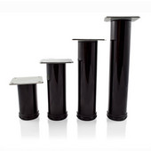 Como Furniture Leg, 2'' Diameter, 4'' H to 10'' H in Multiple Finishes, Shown Here in Glossy Black