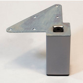 556 Series Square Legs, Set of 4, Square Furniture Legs in Grey, 2'' W x 2'' D x 4'' H  or 6'' H