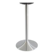6000 Series Palermo Line Trumpet Table Base 22'' Round Bar Height in Brushed Aluminum, Base Spread: 22'' Diameter, Spider Spread: 12'' Diameter, Height: 40-1/2'' H, Available in Multiple Sizes