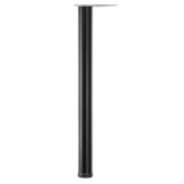 Hamburg Single Bar Leg, 2-3/8'' Diameter, 43'' H, Available in Multiple Finishes & Options, Shown Here in Glossy Black