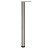 Hamburg Single Bar Leg, 2-3/8'' Diameter, 43'' H, Available in Multiple Finishes & Options, Shown Here in Brushed Steel