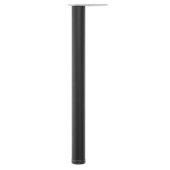 Hamburg Single Counter Height Leg, 2-3/8'' Diameter, 34-1/4'' H, Black Matte