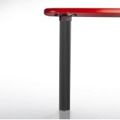 Isola Table Leg Series, Single Table Leg for Island Table in Black Flat, 3'' Diameter x 24-3/4'' H