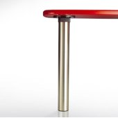 Isola Table Leg Series, Single Table Leg for Island Table in Chrome, 3'' Diameter x 24-3/4'' H