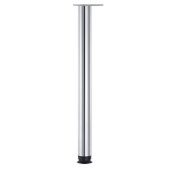 Zoom Single Table Leg, 2-3/8'' Diameter x 27-3/4'' H, Chrome