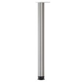Zoom Single Table Leg, 2-3/8'' Diameter x 27-3/4'' H, Brushed Steel