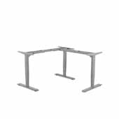, INC. Electric Height Adjustable Corner Lift Desk Frame in Grey, 39-3/8'' W- 70-7/8'' W x 30'' D x 23-13/16'' H- 49-3/8'' H