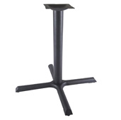2000 Labor Saver System Cast Iron 3'' Diameter Column with 7-3/4'' Squared Top Plate, X-Style Base Plate 22'' W x 22'' D, Table Height 28-1/4'' H, Black Matte