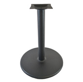 3300 Labor Saver System Cast Iron 3'' Diameter Column with 7-3/4'' Squared Top Plate and 18'' Round Flat Style Base Plate with TR Edge Profile, Table Height 28-1/4'' H, Black Matte