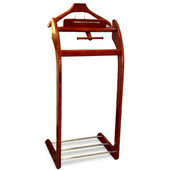 Products Windsor Valet in Cherry with Brass Hardware 17''W x 14''D x 40''H