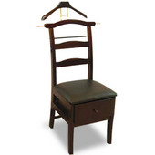 Products Manchester Chair Valet in Mahogany 23''W x 18''D x 44''H
