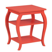 Powell Panorama Table in Orange, 20''W x 17-1/2''D x 23''H