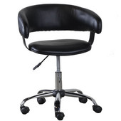 Powell Gas Lift Desk Chair in Black, 22-13''W x 19-5/8''D x 30-5/8''-35''H