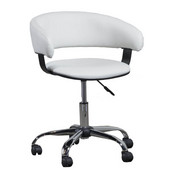 Powell Gas Lift Desk Chair in Chrome, 22-13''W x 19-5/8''D x 30-5/8''-35''H