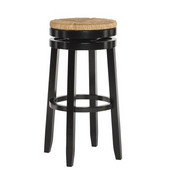 Powell Maya Barstool in Black , 19''W x 19''D x 31-1/4''H