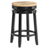 Powell Maya Counter Stool in Black , 18''W x 18''D x 24''H