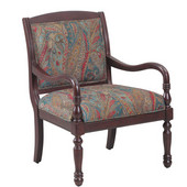 Powell Carina Accent Chair in Cherry, 28''W x 30''D x 38''H