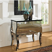 Powell Mirrored 2 Drawer Console Table in , 30''W x 16''D x 28''H