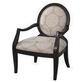 Powell Batik Pearl Framed Chair in Black , 26-1/2''W x 28-1/2''D x 38''H