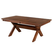 Powell Kraven Dining Table in Distressed Dark Hazelnut, <b>Overall Dimensions:</b> 42''W x 72''D x 30''H<br><b>With Leaf:</b> 42''H