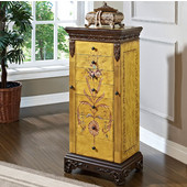 Powell - Hand Painted Jewelry Armoire, Antique Parchment