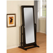 Powell ''Antique Black'' Cheval Jewelry Wardrobe�