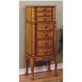 Powell - Jewelry Armoire, 15 3/4'' W x 11'' D x 40 1/4'' H, Woodland Oak