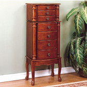 Powell - Jewelry Armoire, 15 3/4'' W x 11'' D x 40 1/4'' H, Classic Cherry