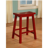 Powell Color Story Crimson Red Counter Stool