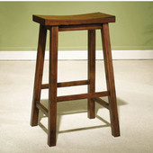 Powell - Bar Stool, 17 5/8'' W x 14 5/8'' D x 29'' H, Honey Brown