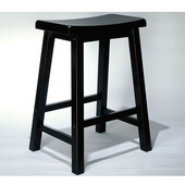 ''Antique Black'' with Sand Through Terra Cotta Counter Stool, 24'' Seat Height