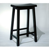 ''Antique Black'' with Sand Through Terra Cotta Bar Stool, 29'' Seat Height