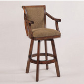 Powell Brandon Swivel Bar Stool, 22'' W x 23-1/2'' D x 45-1/2'' H, Warm Cherry