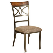 Powell Hamilton Dining Chair, Brushed Faux Medium Cherry - 2 pcs in 1 carton, 18''W x 21-1/2'' Dx 39''H
