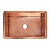 Cocina 30 Kitchen Sink In Polished Copper, 30''W X 18-1/2''D X 10''H