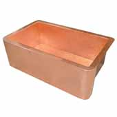 Farmhouse 30 Kitchen Sink In Polished Copper, 30''W X 18-1/2''D X 10''H