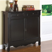 Powell Black 2-Door Console, 41''W x 11''D x 36''H