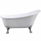 Ariel Platinum Newport Freestanding Bathtub in White Finish, 44 Gallon Capacity, 59'W x 27-1/2''D x 32-5/8'H