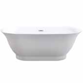 Ariel Platinum Santorini Freestanding Bathtub in White Finish, 56 Gallon Capacity, 59' W x 31-1/2''D x 23-3/16''H