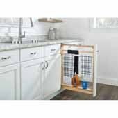 Rev-A-Shelf 6'' Pull-Out Between Cabinet Towel Bar Base Filler with Ball-Bearing Soft-Close Slides