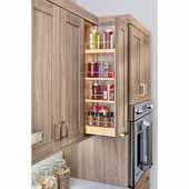 Rev-A-Shelf Kitchen Upper Cabinet Soft Close Pull-Out Organizer w/ 2 Adjustable Shelves, 6-1/2''W x 10-3/4''D x 26-1/8''H, with Full-Extension Ball-Bearing Slides, Fits 9'' Frameless Wall Cabinets